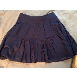 J.Crew Tiered Cotton Voile Mini Skirt,  blue, Sz 4